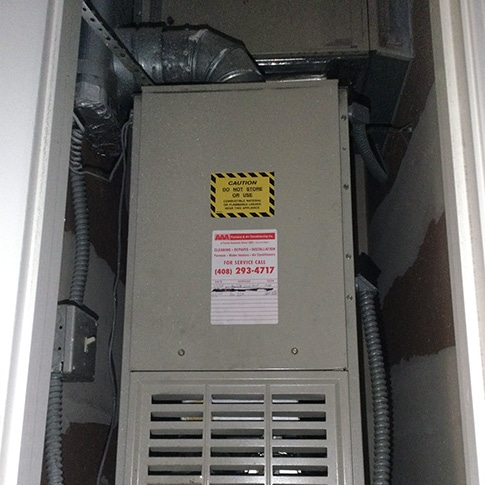 Air Conditioning & Furnace Replacment in San Jose, CA | Before 02