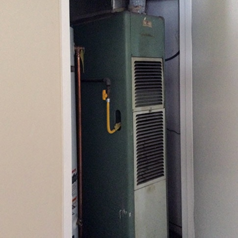 Gas Furnace Replacement in Santa Clara, CA | Before
